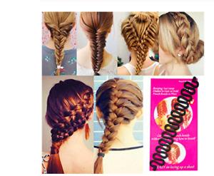New Hot French Plait Girls Hair Braiding Tool-Make Professional Looking Braid UK