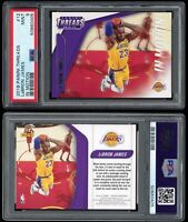 2018-19 Panini Threads LeBron James PSA 9 In Motion Insert #12 1st Year Lakers