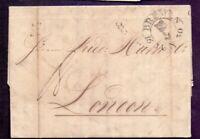Vorphilabrief Altbrief Bremen 1830 mit großem Schlüssel-Stempel nach London(200)