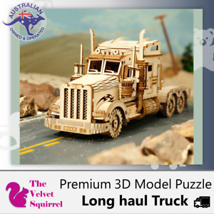 🔥🎲 3D Wooden Puzzle 🧩Truck Model DIY Toy Vehicle Assembly Mechanical Kit Kids