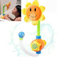 Baby Bath Toy Children Sunflower Spray Water Shower Tub Faucet Kids Bathroom