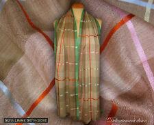 Bell étole en Laine et en Soie rayures multicolores - CH199