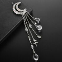 Vintage Women Moon Hair Clips Pin Hairpins Crystal Tassel Hairpin Accessories