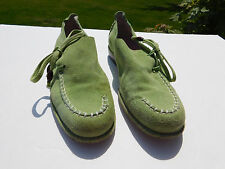 DONALD PLINER LADIES LIME GREEN SOFT SUEDE SHOES SIZE 7 M