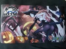 Rare hard to find Force Of Will Cheshire Cat Halloween Playmat