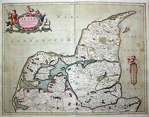 Jutland Danmark Denmark Dänemark Janssonius Pitt Karte map kort 1680
