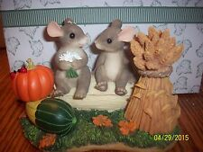 "Charming Tails ""Harvest Time Honey's "" Signed By Dean Griff Fall Fitz & Floyd"