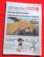 Tintin dans la Presse - Tintin à 70 ans - OUEST FRANCE 1999