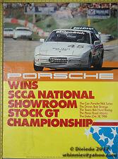 1987 Porsche SCCA Genuine Factory Poster Original