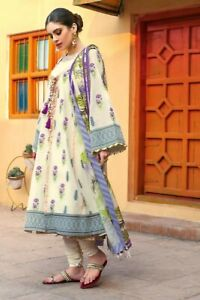 ORIGINAL GULAHMED EMBROIDERED LAWN SUMMER JACQUARD 3 PCS UNSTITCHED SUIT TR-04