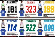 MOTOCROSS BMX YOUTH SIZE NAME & 3 DIGIT NUMBER for JERSEY Heat Transfer Vinyl