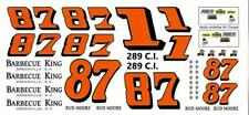 Plastic Performance Products #1 Cougar/#87 Chevelle Lil Bud Moore decal