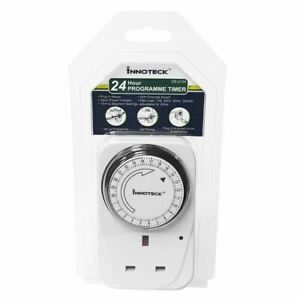 24 Hour Segment Mechanical Timer Switch Programmable On/Off Function UK Mains