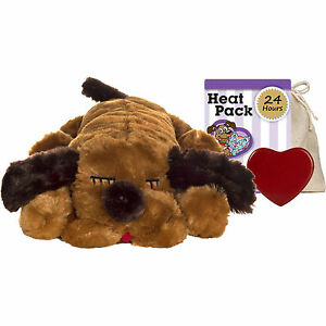 Snuggle Puppy Dog Pet Heater Warmer Anxiety Comforter Sleep Companion Plush Toy