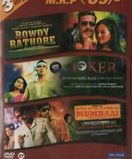 ROWDY RATHORE - JOKER - ONCE UPON A TIME IN MUMBAAI - 3 IN 1 BOLLYWOOD DVD.
