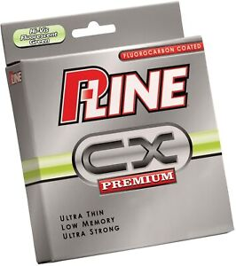 P-Line CX Premium Fluorocarbon Coated CoPolymer Fishing Line 300 yds