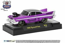 1:64 M2 Machines *GROUND POUNDERS R16* Purple 1958 Plymouth Fury *NIB*