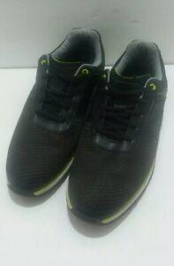 Footjoy Mens US 8.5 M Black & Lime Hyperflex Training Shoes (62802)