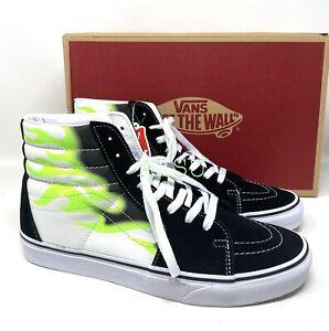 VANS SK8-HI Flame Canvas Suede Black Green Men's Sneakers VN0A4U3CXEY
