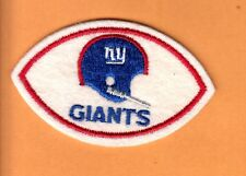 1960's NEW YORK NY GIANTS FOOTBALL SHAPE LOGO PATCH UNUSED STOCK AFL NFL ISSUE
