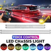 Voice Control Car LED Strip Light Interior Chassis Colorful Atmosphere Rhythm