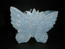 1940s McCoy Pottery  BUTTERFLY NM Vase,Planter with Blue Matte Glaze