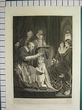1797 DATED LARGE ANTIQUE PRINT ~ CORONATION OF HENRY VI ~ HOLLOWAY