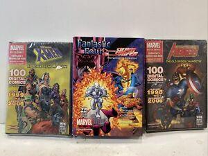 Rare Marvel Comics Dvd-rom The Avengers X-men Fantastic Four Silver Surfer