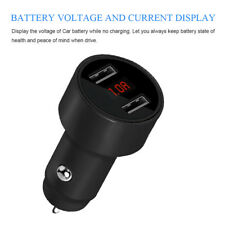 12V/24V 3.1A Dual USB Car Charger Adapter LED Fast Charging For iPhone Samsung