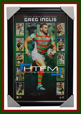 Greg Inglis SIGNED South Sydney Rabbitohs Vertiramic NRL Official Print Framed