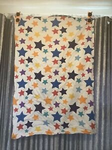 """Medium Dog Bed Pillow Cover Only White With Colourful Stars 28x41.5"""""""