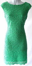 Ralph Lauren crochet cap sleeves knee lenght cocktail event wedding dress sz 18