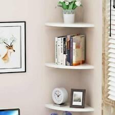 3-Tier Corner Shelf Floating Wall Mount Shelves Storage Rack Display Decoration