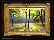 """Oil Painting PRINTED on Canvas Arseni ~ HAPPY DAY 12"""" X 8"""" Impressionism Artist"""