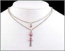 Pilgrim Jewelry Pearls Swarovski Crystals Enamel Pendant Silver Necklace
