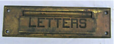 Vintage Brass Letter Size Mail Slot With Back Plate