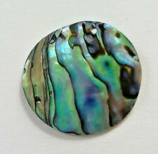 1 Natural Paua/Abalone Shell Bead, Round Pendant. 35 mm Jewellery Making/Crafts