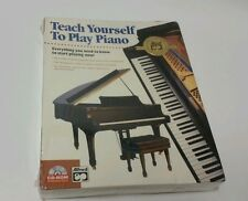 Teach Yourself to Play Piano CD-ROM Mac or PC, All ages Instructional Lessons