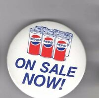 Old pin PEPSI-COLA pinback Pepsi on Sale Now 3 inch button Can Graphic