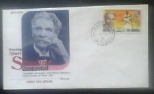 First day of issue, 1975 The Gambia, Centenary of Albert Schweitzer