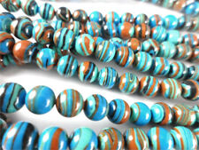 Calsilica Rainbow Semi Precious Stone Man-made Dyed 6mm Round Bead Q1 Strand