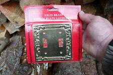 Vintage Solid Brass Double Switch Wall Plate Cover New