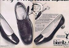 Publicité Advertising 096 1967 Belbis  Biarritz chaussures Corfam (2 pages)