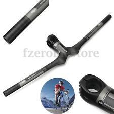 Carbon 3k MTB Matt Flat Handlebars Road Mountain Bicycle Integrated Bars Stems 700mm