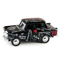 Trabi Trabant Limousine Berlin Sketch,Modellauto DDR Metall 12 cm,NEU