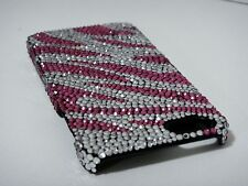 Zebra White Pink Bling Made with Swarovski Crystals Shiny Case iPhone 7/8 Plus