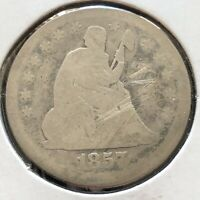 1857 Seated Liberty Quarter 25c Circulated #2727