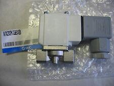 """SMC VX212KGBXB 1/8"""" Stainless 24 VDC Solenoid N/C Valve w/ Bracket & DIN Term."""