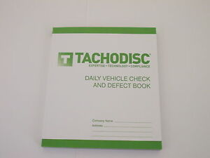 Daily Vehicle Check and Defect Defect Book HGV T50.Tachograph product.Tachodisc