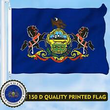 G128-Pennsylvania State Flag 3x5ft Printed Brass Grommets 150D Quality Polyester